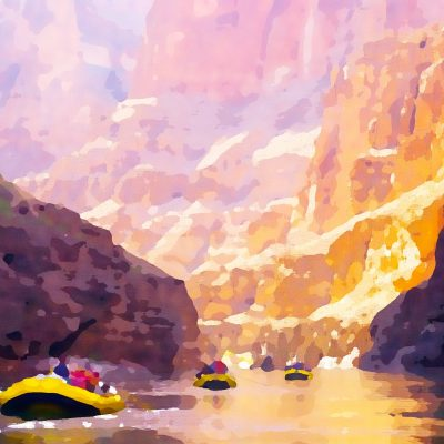 Colorado River - Watercolor by Dane Shakespear