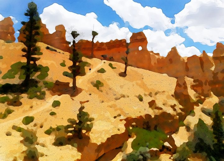 Bryce Canyon watercolory by Dane Shakespear