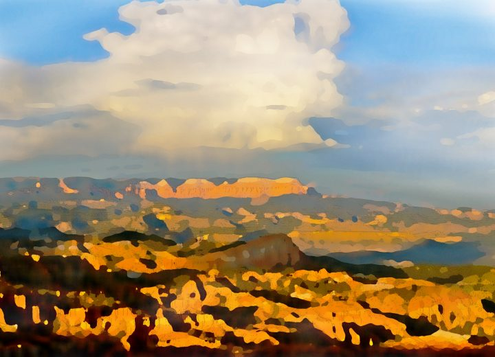 Watercolor Bryce Canyon by Dane Shakespear